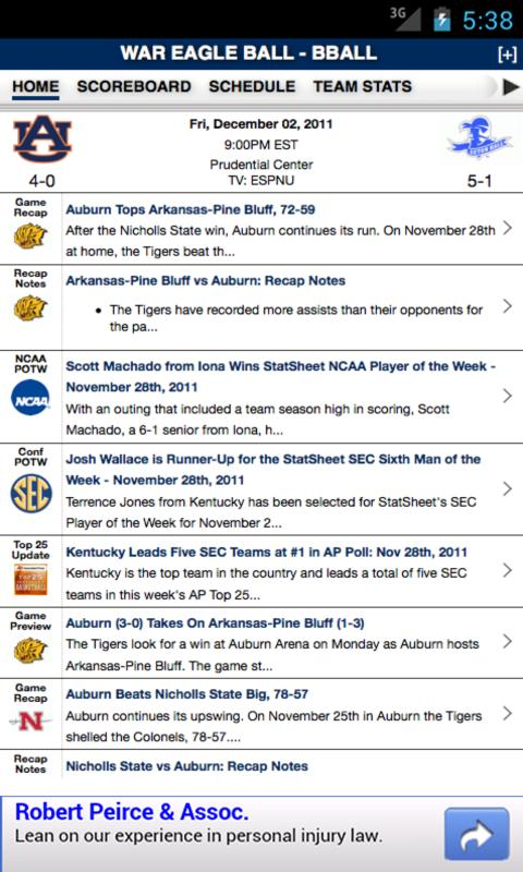 Auburn Football & Basketball - screenshot