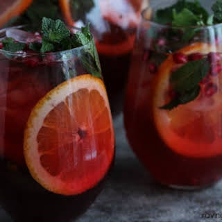 Pomegranate Party Punch #CocktailDay.