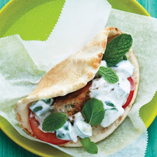 Chicken Koftas with Cucumbers and Yogurt