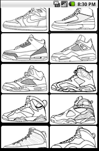 sneakerhead coloring book pages | Air Jordan coloring book | FREE Android app market