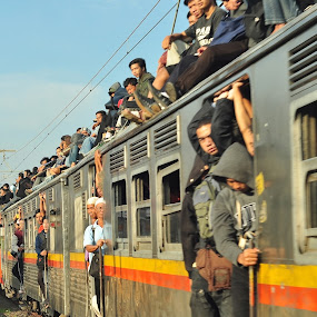 Kereta Api Jabotabek by Ahmad Yahya - Transportation Trains ( kereta api, jabotabek )
