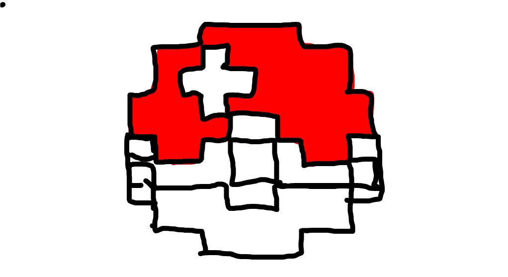 Pokeball 8 Bit Drawings SketchPort