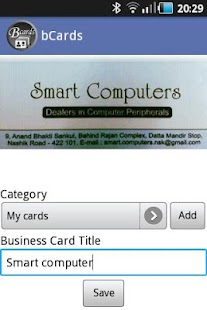 bCards - Business Card Manager - screenshot thumbnail