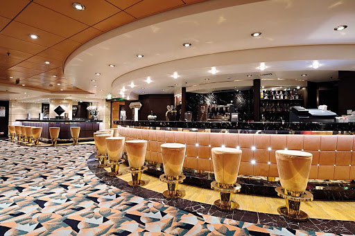MSC-Musica-The-Diamond-Bar - MSC Musica's elegant Diamond Bar is the perfect place to meet for cocktails and conversation.