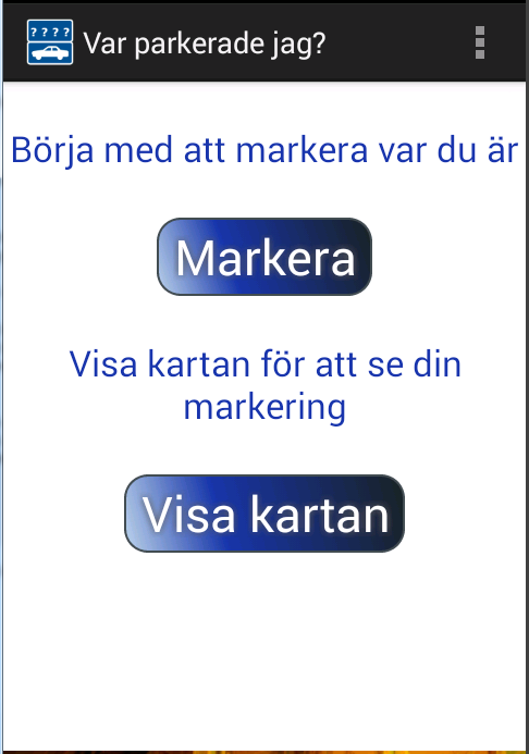 Var parkerade jag?- screenshot