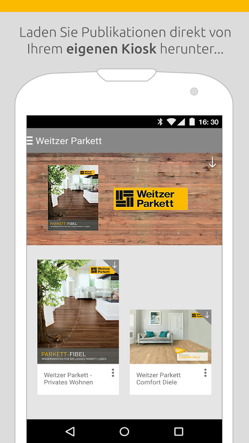 Weitzer Parkett – Screenshot