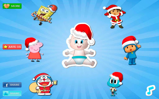 圣诞拼图为孩子|玩教育App免費|玩APPs
