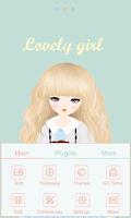 Screenshot of Lovely Girl GO Launcher Theme
