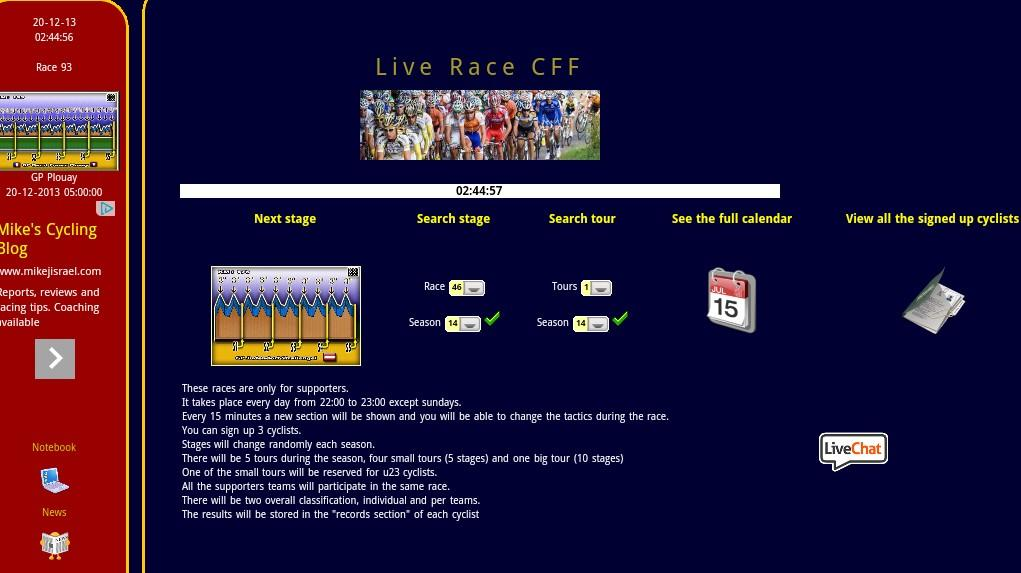 CFF Cycling Manager Game - screenshot