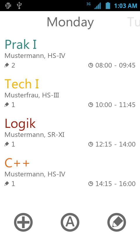 yasp! Class Schedule- screenshot