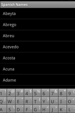 Spanish Names Pronounced- screenshot