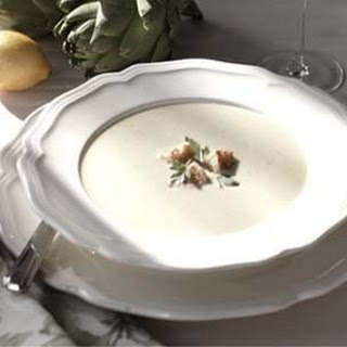 Artichoke Soup with Croutons