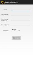 Screenshot of Tibia Calculator