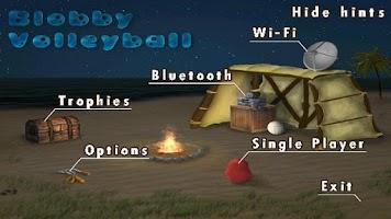 Screenshot of Blobby Volleyball