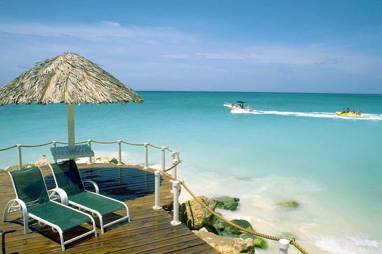 Deck time on Aruba.