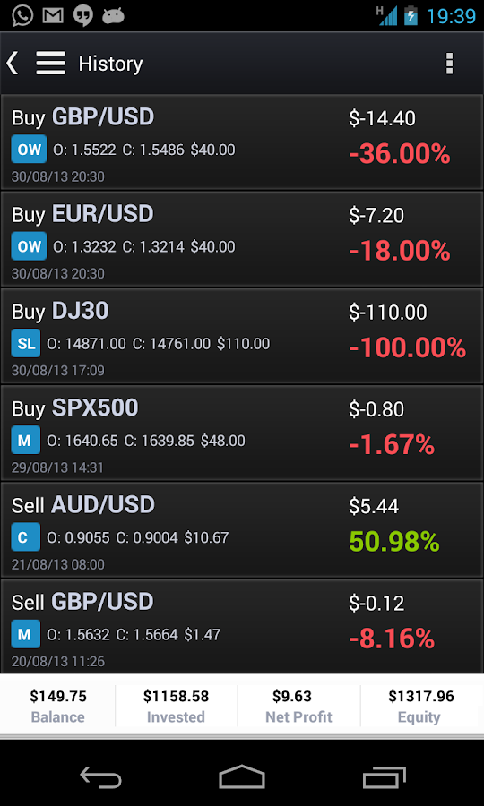 eToro - Mobile Trader - screenshot