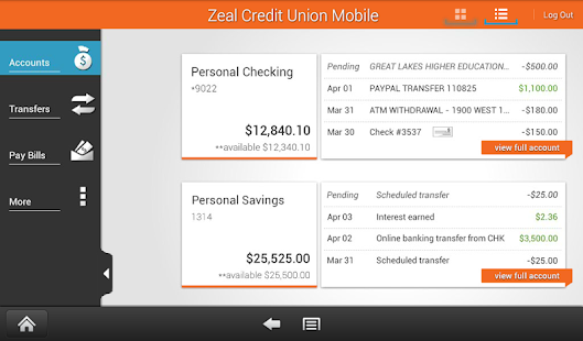 Zeal Credit Union Mobile- screenshot thumbnail