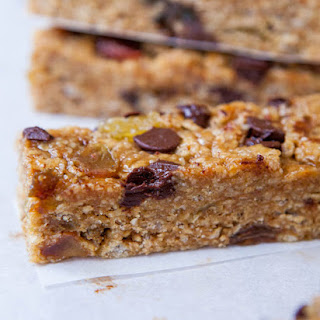 Peanut Butter Chocolate Chip Granola Bars (No-Bake, Vegan, Gluten-Free, Soy-Free)