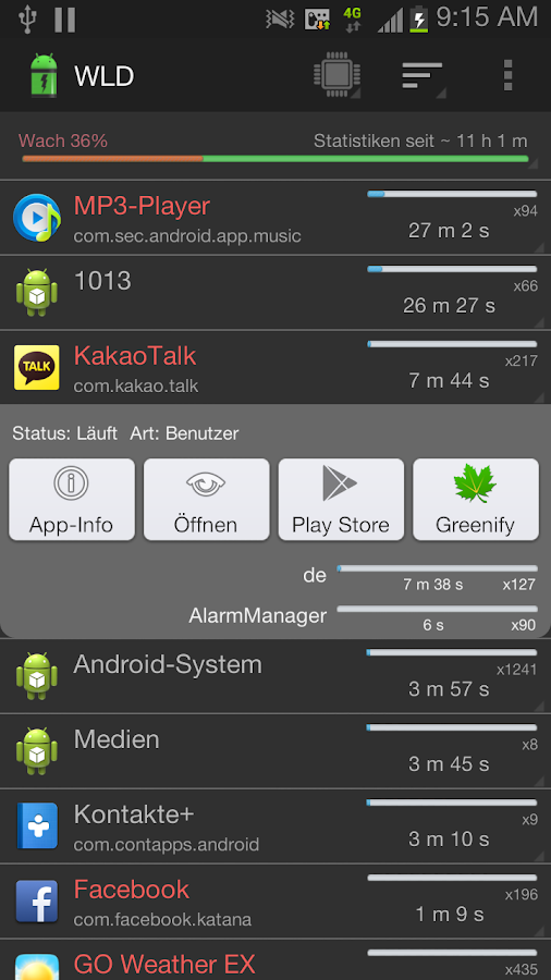 Wakelock Detector [FULL PACK]- screenshot