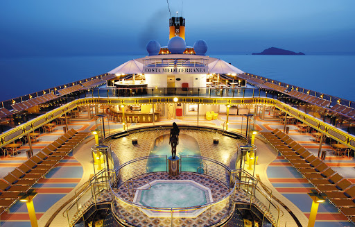 Costa-Mediterranea-lido - A moment of serenity on Costa Mediterranea.