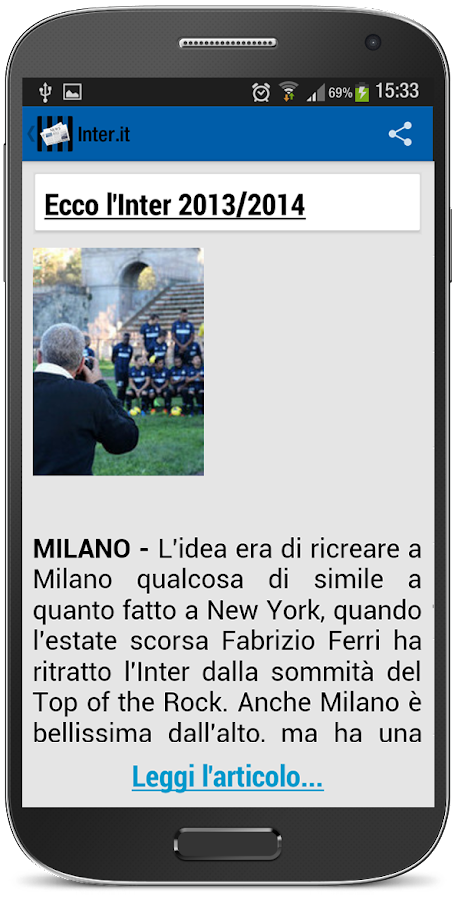 Inter Milan - Nerazzurri News- screenshot