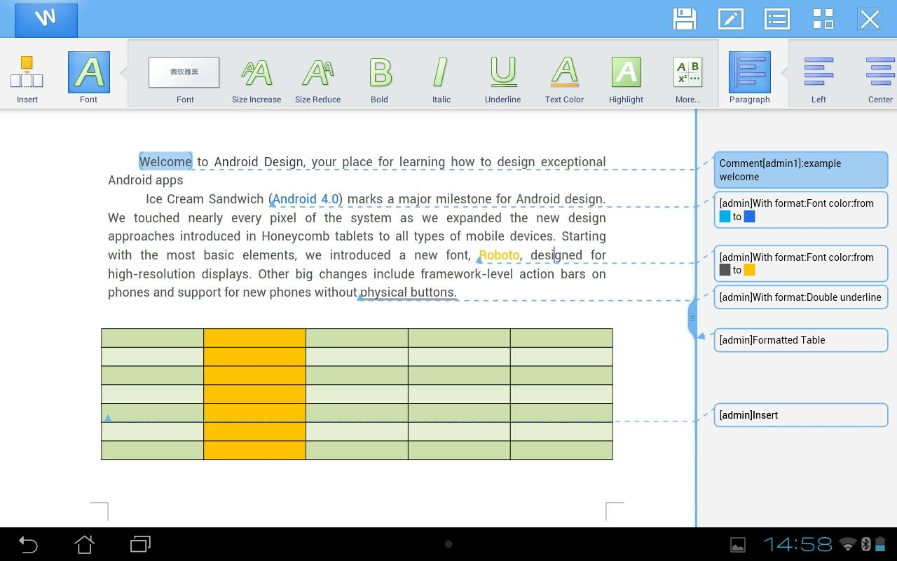 Kingsoft Office v6.0 APK Full indir