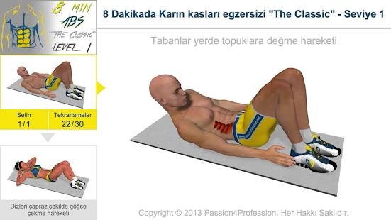 8 dakikada karın kası - screenshot thumbnail