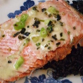 Salmon with Wasabi-Creme Fraiche