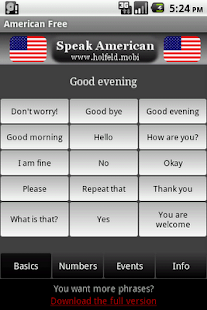 Speak American Free – Miniaturansicht des Screenshots