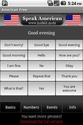 Speak American Free – Screenshot