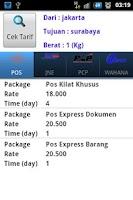 Screenshot of Lacak Paket