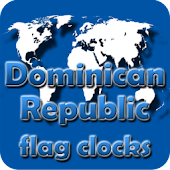 Dominican Republic flag clocks