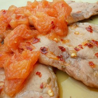 Benji's Pork Chops with Grapefruit Relish