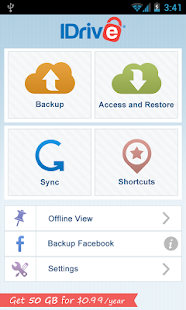 IDrive (Online Backup) - screenshot thumbnail