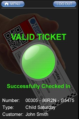 The FOAT Ticket Scanner App- screenshot