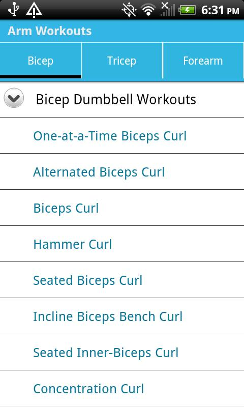 Arm Workouts - screenshot