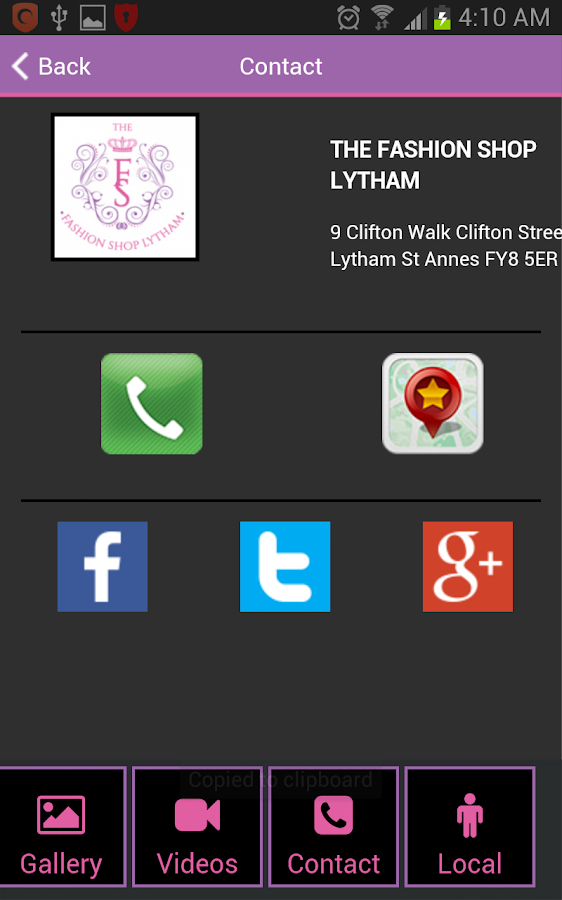 The Fashion Shop Lytham- screenshot