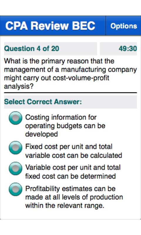 CPA Review - BEC - screenshot