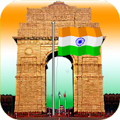 India Gate with Flag Animation
