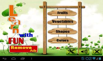 Screenshot of Fruit veg shape color for kids