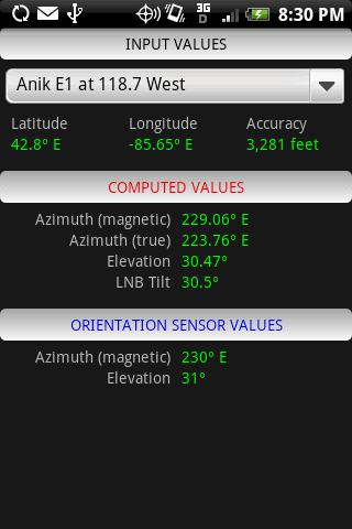 Satellite Finder - screenshot