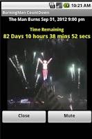 Screenshot of Burning Man Count Down