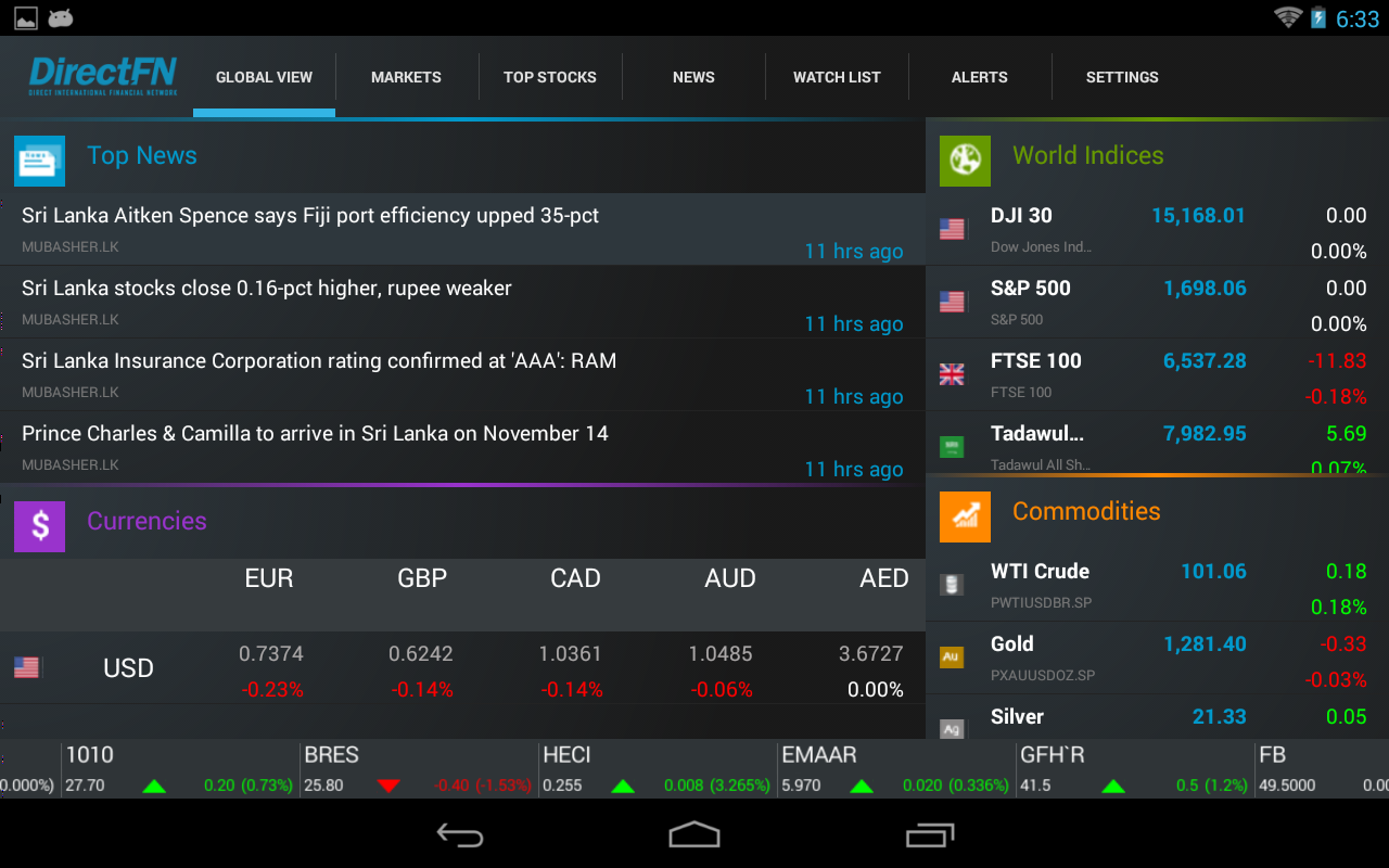 DFN Touch for Android Tab- screenshot