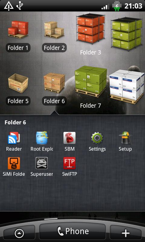 SiMi Folder Pro (Donate) - screenshot
