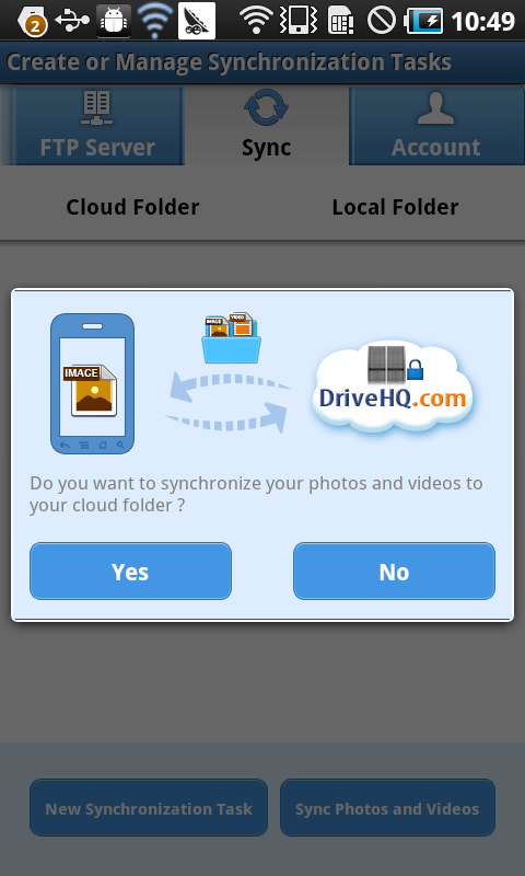 DriveHQ File Manager  (FTP)- screenshot