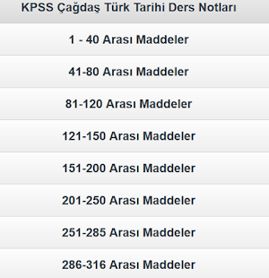 KPSS Çağdaş Türk Dünya Tarihi