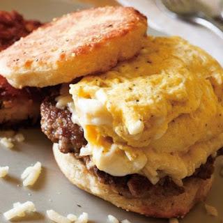 'Go Home Thomas' Egg and Sausage Sandwich.