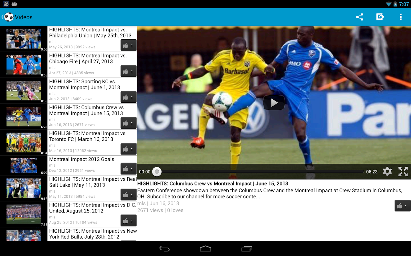 Montreal Impact Fan - screenshot