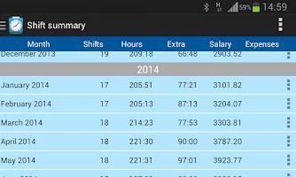 Screenshot of Shift Logger - Time Tracker