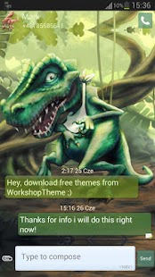 GO SMS Pro Theme dinosaur - screenshot thumbnail